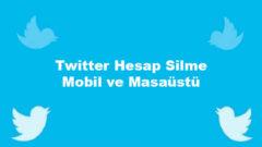 Twitter hesap silme