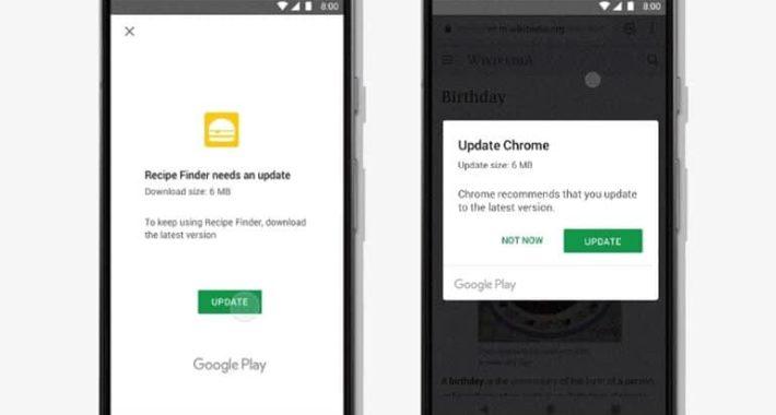 Android uygulamalarında güncelleme konusunda yeni özellik