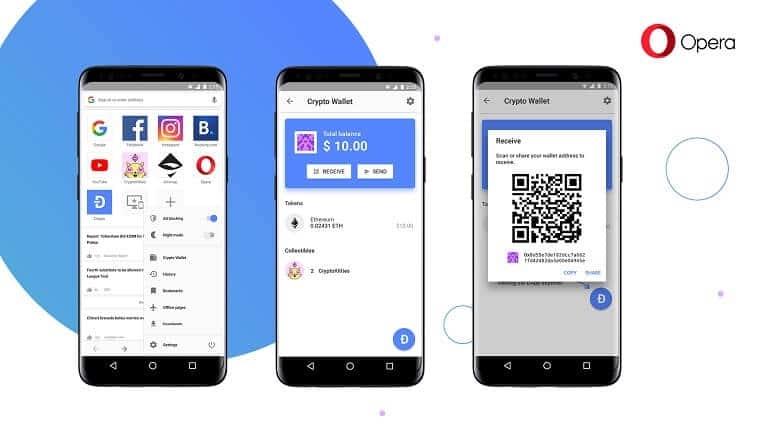 Opera Android'e kripto para cüzdanı özelliği geldi