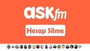 Ask.fm hesap silme