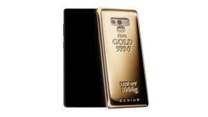 Caviar 1 kg saf altına sahip Galaxy Note 9 üretti!