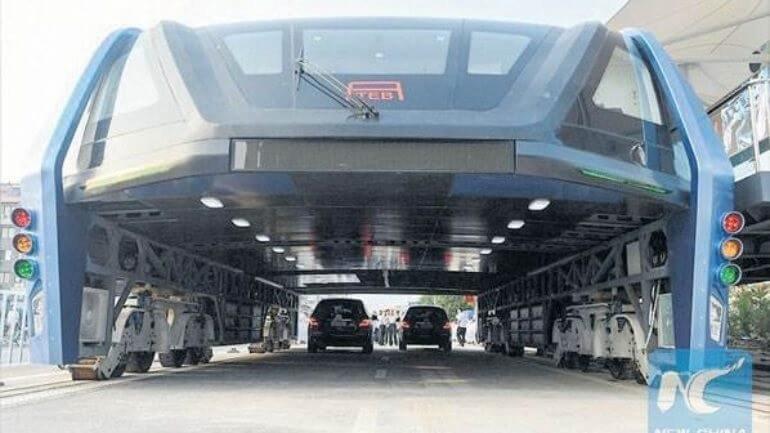Çin dev otobüs projesini hayata geçirdi