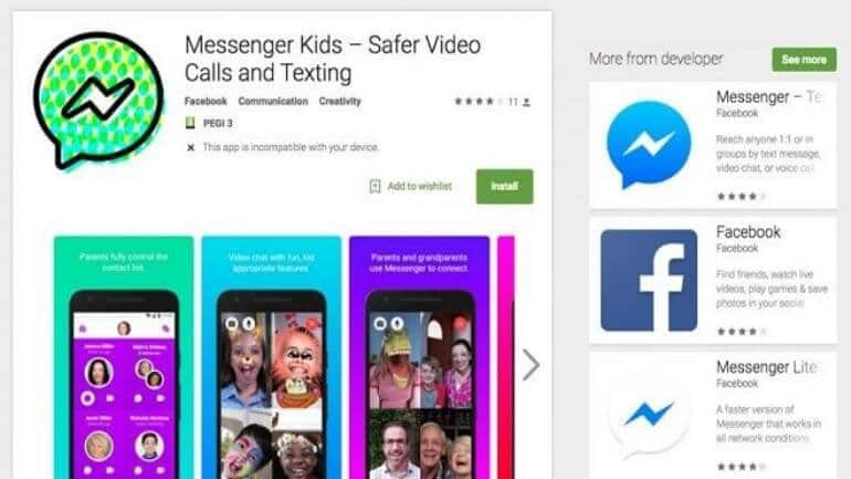 Facebook Messenger Kids Android