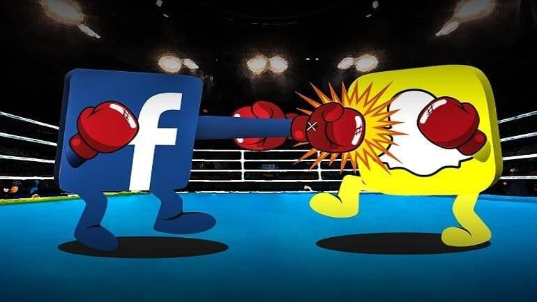 Facebook Snapchat'e karşı !