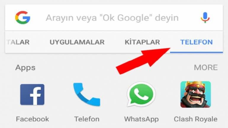 "Google Play'e ""telefon içi arama"" özelliği"