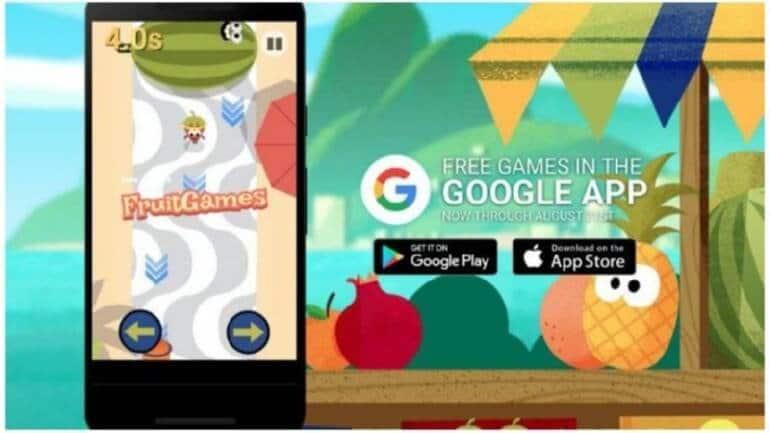 Google'dan 2016 Rio Olimpiyatları için Doodle: Meyve oyunları