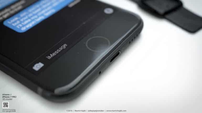 iPhone 7'de fiziki home tuşu yok