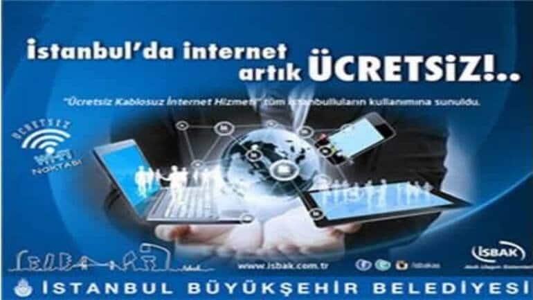 İstanbul'un her yanında ücretsiz wifi desteği
