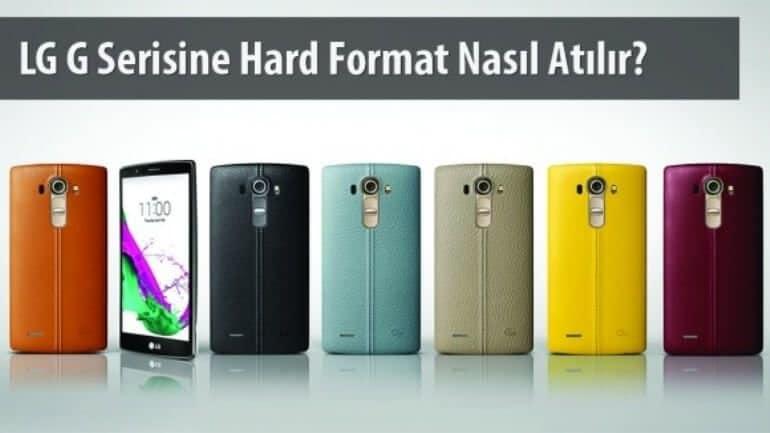LG G2, G3, G4 hard format atma
