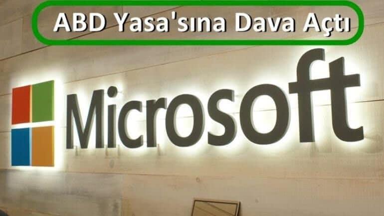 Microsoft'tan Amerikan'a büyük dava