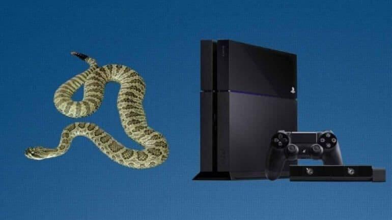 PS 4 konsolundan yılan çıktı!