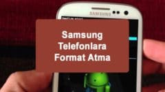 Samsung Hard ve Soft format atmak