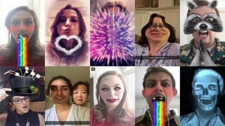 Snapchat yüz efektleri
