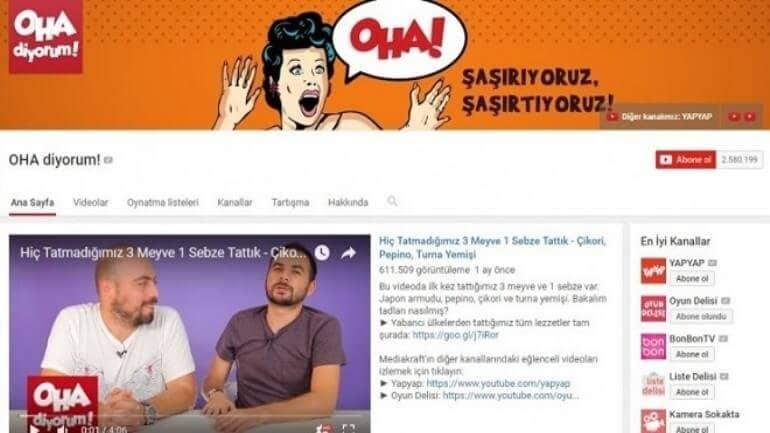 Türkiye'de en çok para kazanan 10 Youtube kanalı