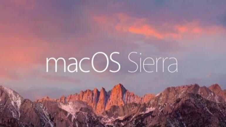 Ve macOS Sierra kullanıcılara sunuldu