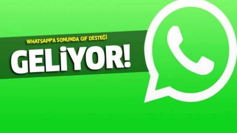 WhatsApp artık GIF'leri destekleyecek