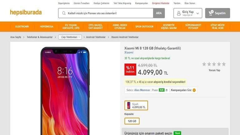 Xiaomi Mi 8 Türkiye'de Satışa Çıktı!