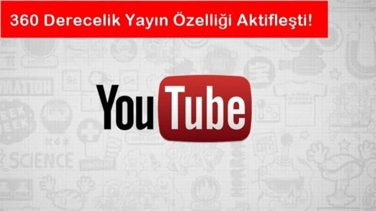 Youtube'dan 360 derece özelliği!